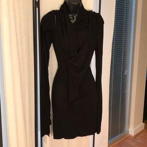 All Saints Black long sleeve Haven dress top UK 10